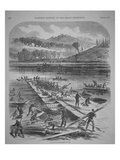 Laying the Pontoons for Sedgwick's Corps  April 1863  from 'Harper's History of the Great Rebellion