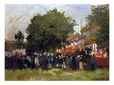 Fete at Argenteuil  1884 (Oil on Canvas)