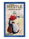 Advertisement for Nestle Chocolat Au Lait  C1920 (Colour Litho)
