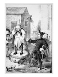Peter Stuyvesant Chastises Willem Wickendam for Preaching a Baptist Sermon (Litho)