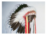 Tribal Headdress  Sioux Tribe (Textile and Feathers)