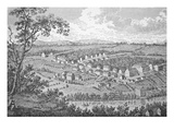 The German Moravian Settlement of Bethlehem  Pennsylvania (Engraving)