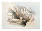The Necropolis  Petra  from Volume Iii of 'The Holy Land'  1839 (Hand-Coloured Litho)