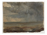 Stormy Landscape  C1832 (Oil on Paper)
