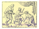 Odysseus Recognised by His Nurse  Illustration from 'History of Greece' by Victor Duruy