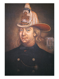 Benjamin Franklin Wearing the Uniform of the Union Fire Company Which He Founded in Philadelphia