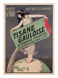 Poster Advertising Tisane Gauloise  Printed by Chaix  Paris  C1900 (Colour Litho)