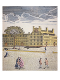 Harvard College  Cambridge  Massachusetts C1740 (Colour Litho)