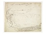 Horseshoe Falls  Niagara  Morning  C1829 (Pen and Brown Ink over Graphite on Off-White Wove Paper)