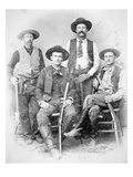 Texas Rangers Armed with Revolvers and Winchester Rifles  1890 (B/W Photo)