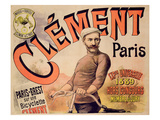 Poster Advertising Clement Bicycles  1889 (Colour Litho)