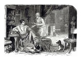 Roman Study  Illustration from 'Cassell's Illustrated Universal History' by Edward Ollier