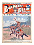 Little Buckskin  Cover Illustration from 'Buffalo Bill Library'  C1920 (Colour Litho)