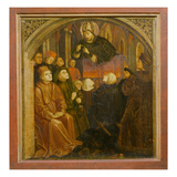 Saint Ambrose Preaching in Milan  Form the 'Altarpiece of Saint Augustine'  C1480 (Oil on Panel)