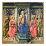 Madonna and Child Enthroned with SS Francis  Cosmas  Damian and Anthony of Padua  C1442-45