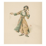 Mr Mantalini  Illustration from 'Character Sketches from Charles Dickens'  C1890 (Colour Litho)