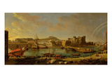 The Port at Naples (View of the Castel Nuovo at the Palazzo Reale)  1711 (Oil on Canvas)