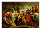 The Meeting of David and Abigail  1625-28
