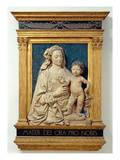 Madonna and Child  C1470 (Glazed Terracotta) (Also See 428020)