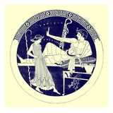 Dancing Girl and Feasting Youth  Illustration from 'Greek Vase Paintings'