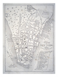 Plan of New York in 1729 (Litho)