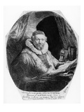 T29953 Portrait of Jan Uytenbogaert  Preacher of the Remonstrants  1635 (Etching) (B/W)