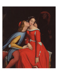 Francesca Da Rimini and Paolo Malatesta  1819 (Oil on Canvas)