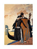 Her and Him  Fashion Illustration  1921 (Pochoir Print)