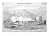 British Sailors in Boats of the Hms Medea Attack Junks in Tienpak Harbour  China During Opium Wars