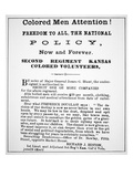 Colored Men Attention!&#39;  Recruitment Notice for Black Soldiers  Published 17th July 1863