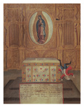 Ex-Voto Dedicated to the Virgin of Guadelupe (Oil on Wood)