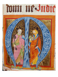 Historiated Initial 'M' with Saints Peter and Paul