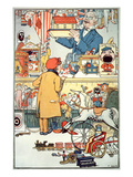 The Toy Shop  C1910 (Colour Litho)