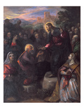 Christ Delivering the Keys to St Peter with St Jacinta and St Justina of Padua