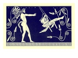 Silen Swinging Maiden  Illustration from 'Greek Vase Paintings'