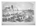 Battle of Gettysburg - Charge of the Confederates on Cemetery Hill Thursday Evening  July 2nd  1863