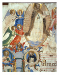 Ms 558 F67V St Dominic Surrounded by Musician Angels  Detail from a Missal  Early 1430S