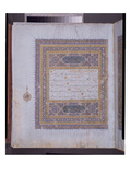 Manuscript of a Koran  C1425-50 (W/C  Gold and Ink on Paper)