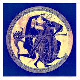 Satyr and Maenad  Illustration from 'Greek Vase Paintings' by J E Harrison and D S Maccoll