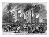 Draft Riots in New York  'Destruction of the Coloured Orphan Asylum'  1863 (Litho)