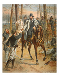 General Grant in the Wilderness Campaign  5th May 1864 (Colour Litho)