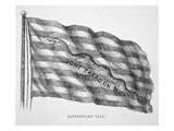 The American Naval Flag  as Flown by John Paul Jones (Litho)