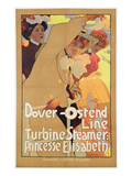 Dover- Ostend Line&#39;  Poster Advertising Travel Between England and Belgium on Princesse Elisabeth