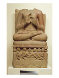 Carving of Buddha in the Attitude of Preaching a Sermon  Sarnath  Uttar Pradesh  5th Century