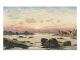 Bude Sands at Sunset  1874 (Oil on Canvas)