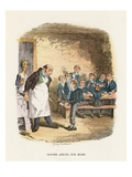 Oliver Asking for More  Illustration for 'Oliver Twist' by Charles Dickens (Colour Litho)