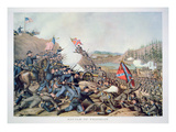 Battle of Franklin  November 30th 1864  Engraved by Kurz and Allison  1891 (Colour Litho)