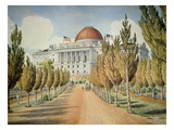 View of the Capitol (Colour Litho)