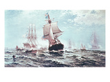 First Recognition of the Stars and Stripes  14th February 1778 (Oil on Canvas)