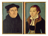 Double Portrait of Martin Luther and Katherin Von Bora  1529 (Oil on Panel)